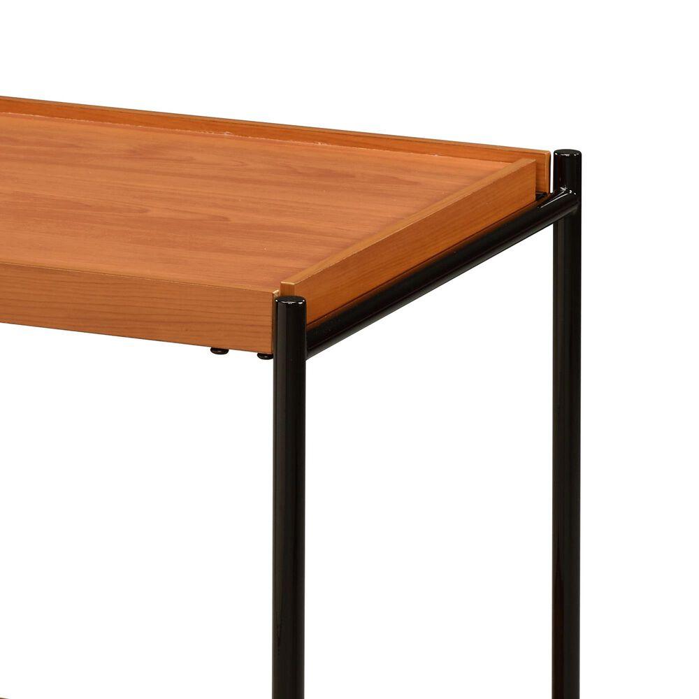 Gunnison Co. Oaken End Table in Honey Oak/Black, , large