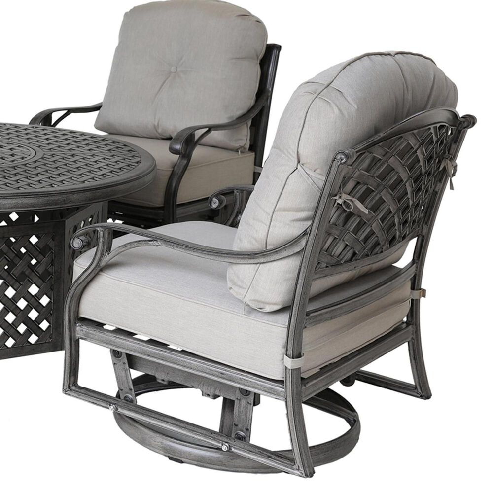 Gathercraft Macan 5-Piece Fire Pit Set in Silver and Gray, , large