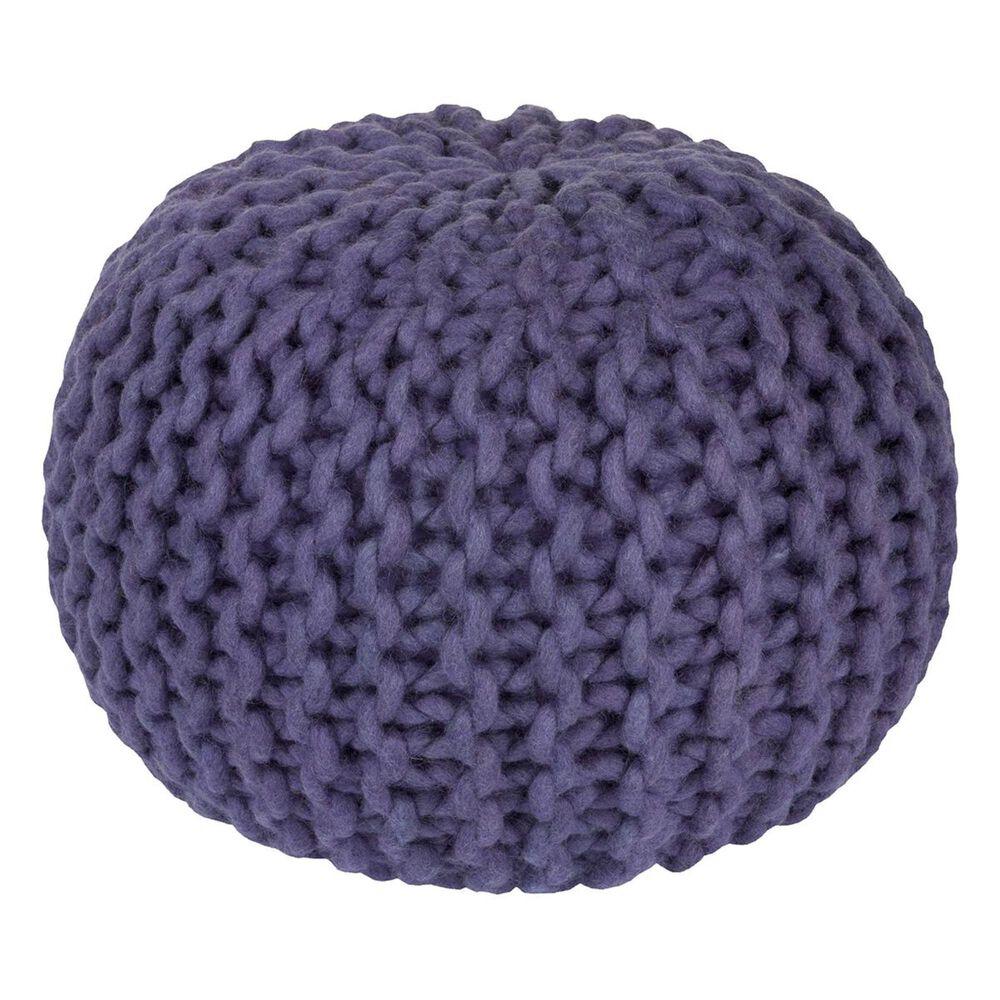 Surya Inc Fargo Sphere Pouf in Purple, , large