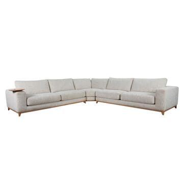 Classic Concepts Coastal View 3-Piece Sectional in Sand, , large
