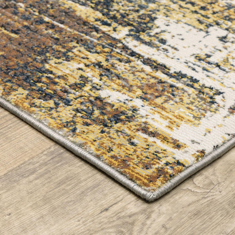 """Oriental Weavers Caravan Abstract Mixup 7'10"""" x 10'10"""" Gold and Beige Area Rug, , large"""