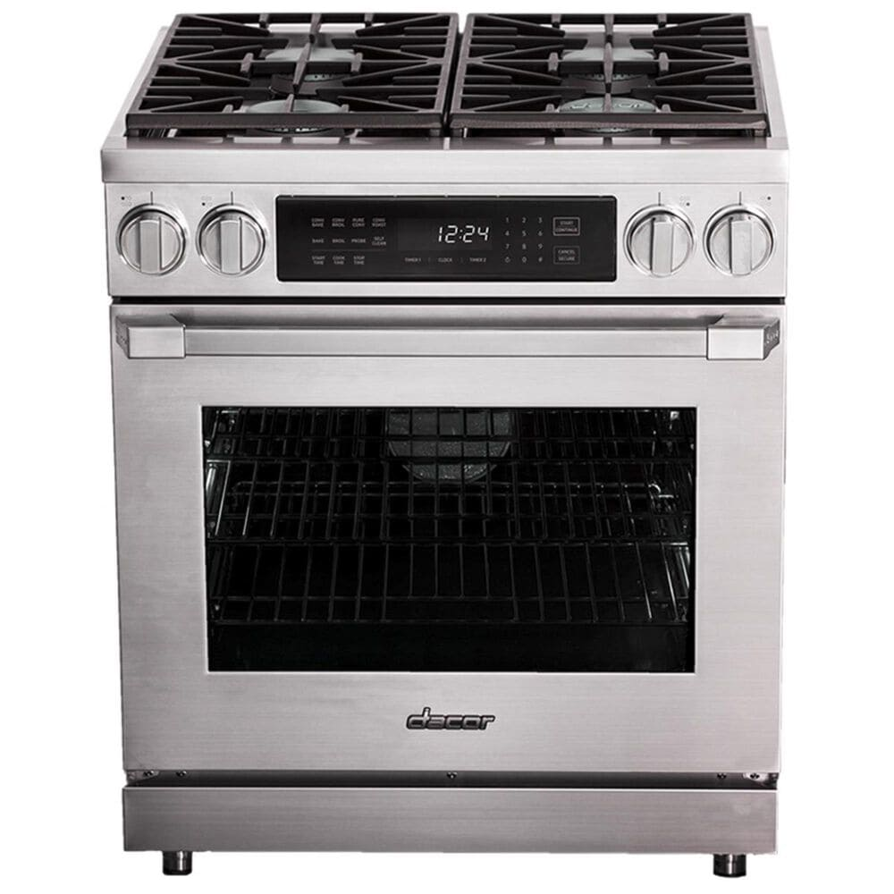 """Dacor Heritage 30"""" Liquid Propane High Altitude Pro Dual Fuel Range in Stainless Steel, , large"""