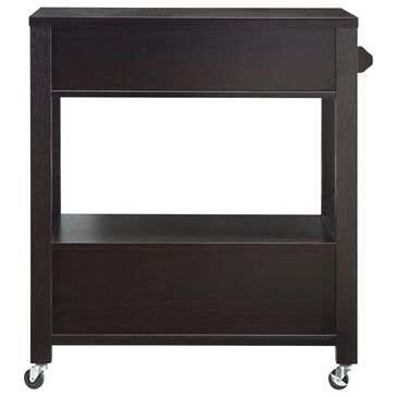 Furniture of America Hebert Kitchen Cart in Cappuccino, , large