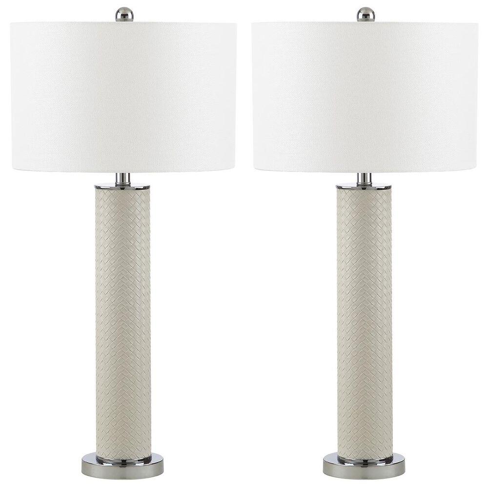 "Safavieh Ollie 31.5"" Table Lamp in Light Creme (Set of 2), , large"