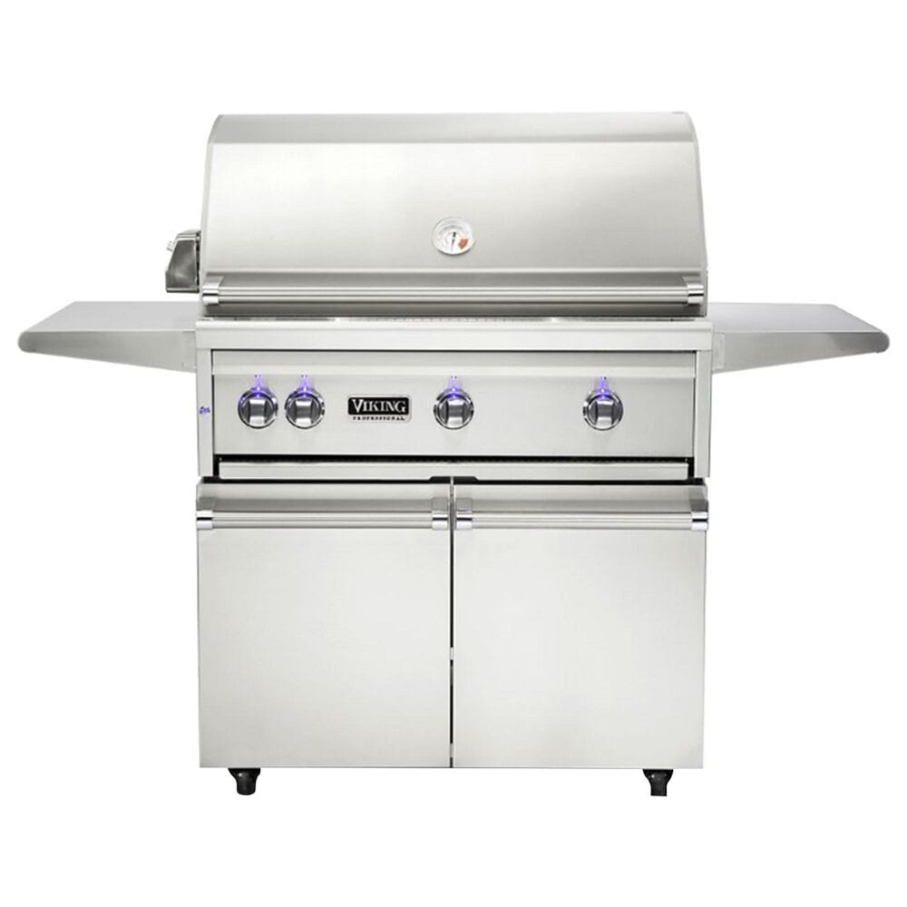 """Viking Range 36"""" Liquid Propane Freestanding Grill and Cart in Stainless Steel, , large"""