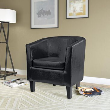CorLiving Medium Tub Chair in Black, , large