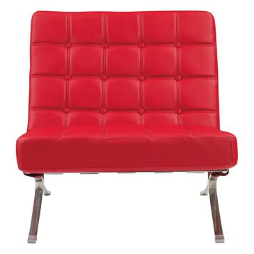 Global Furniture USA Natalie Accent Chair in Red, , large