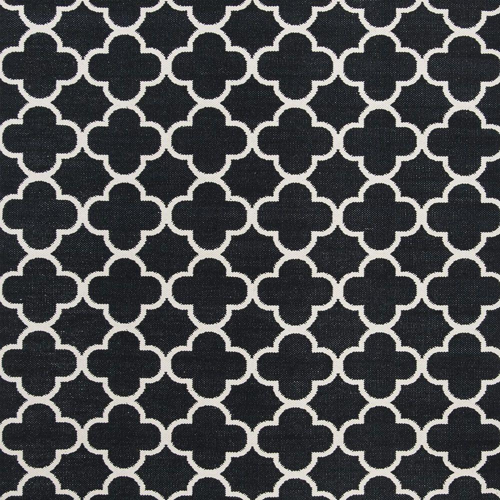 Safavieh Montauk MTK725  6' Square Black and Ivory Area Rug, , large