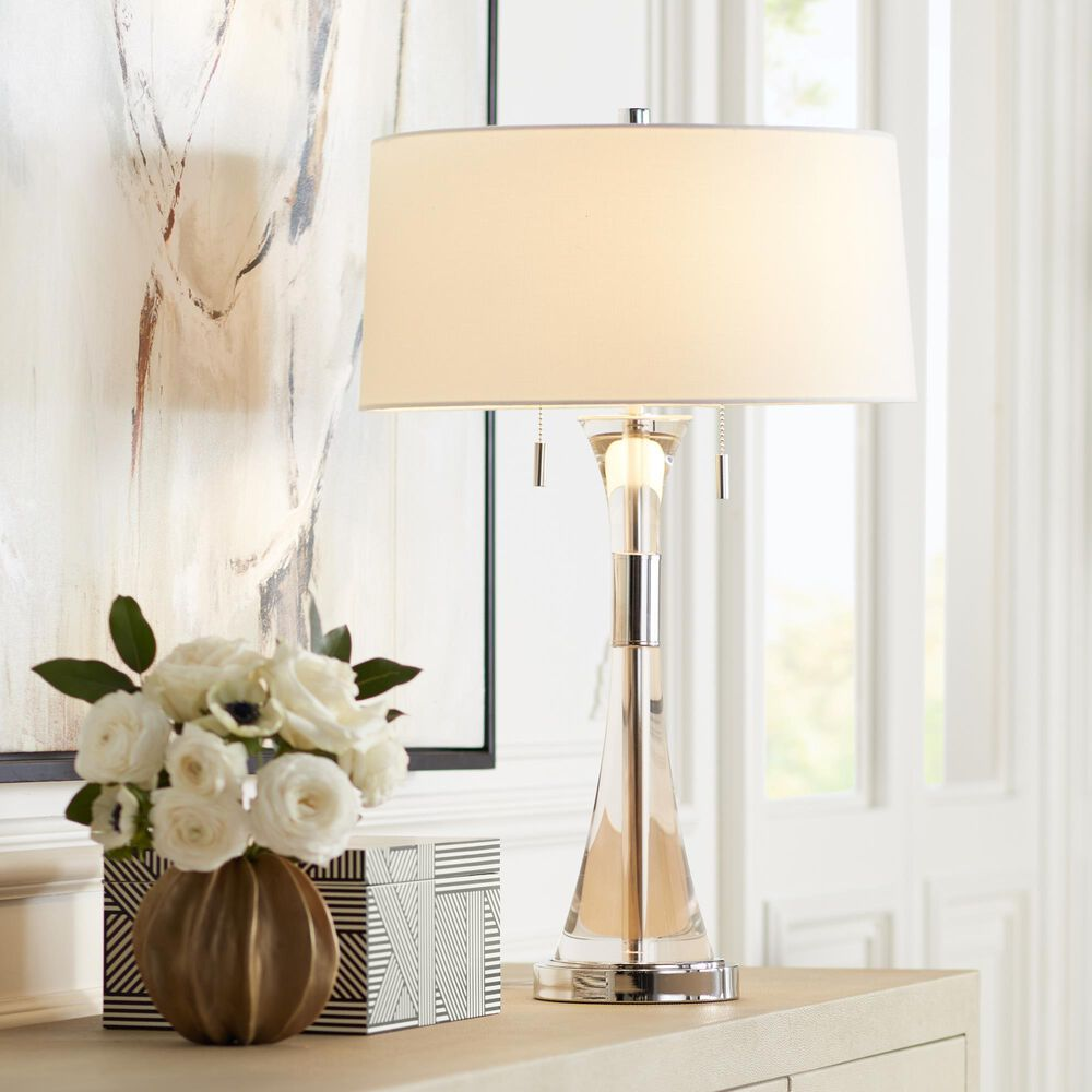 Pacific Coast Lighting Crystal Carriage Table Lamp in Clear, , large