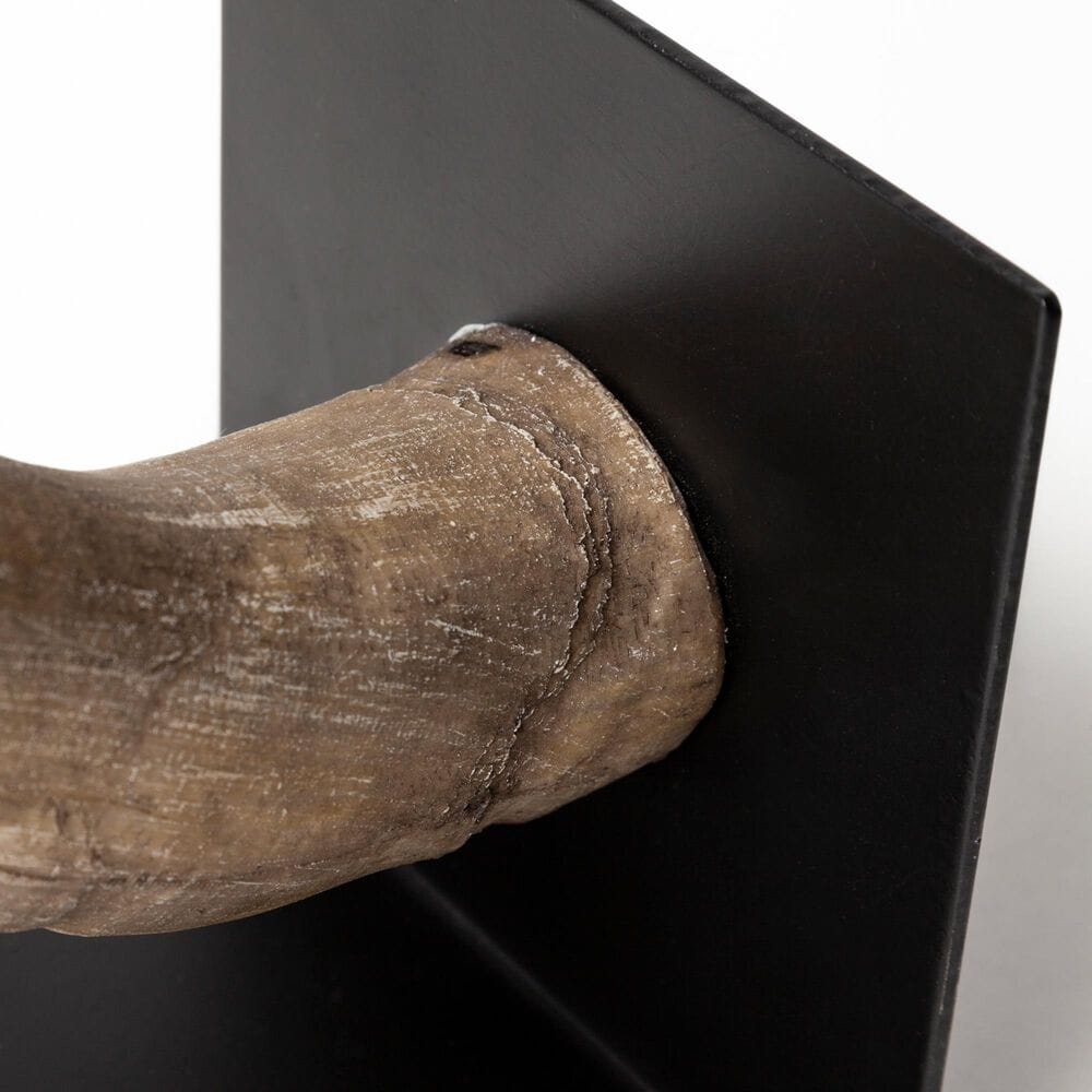 Mercana Nickerson Bull Horn Bookend (Set of 2), , large