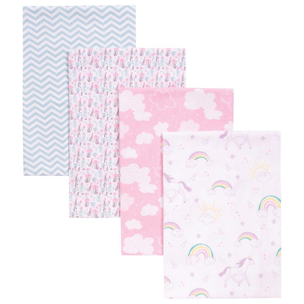 Trend Labs Unicorn Rainbow 4-Piece Blanket Set in Pink, , large