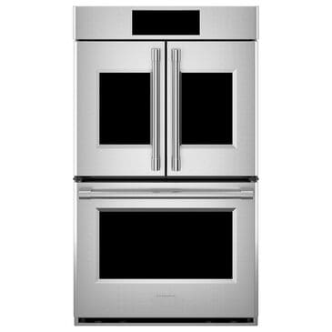"Monogram Statement 30"" French Door Electric Double Wall Oven in Stainless Steel, , large"