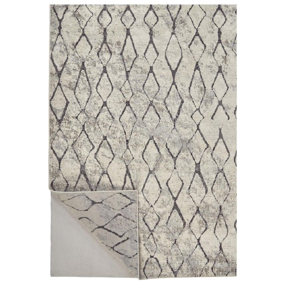 """Feizy Rugs Kano 3872F 2'7"""" x 8' Sand and Charcoal Runner, , large"""