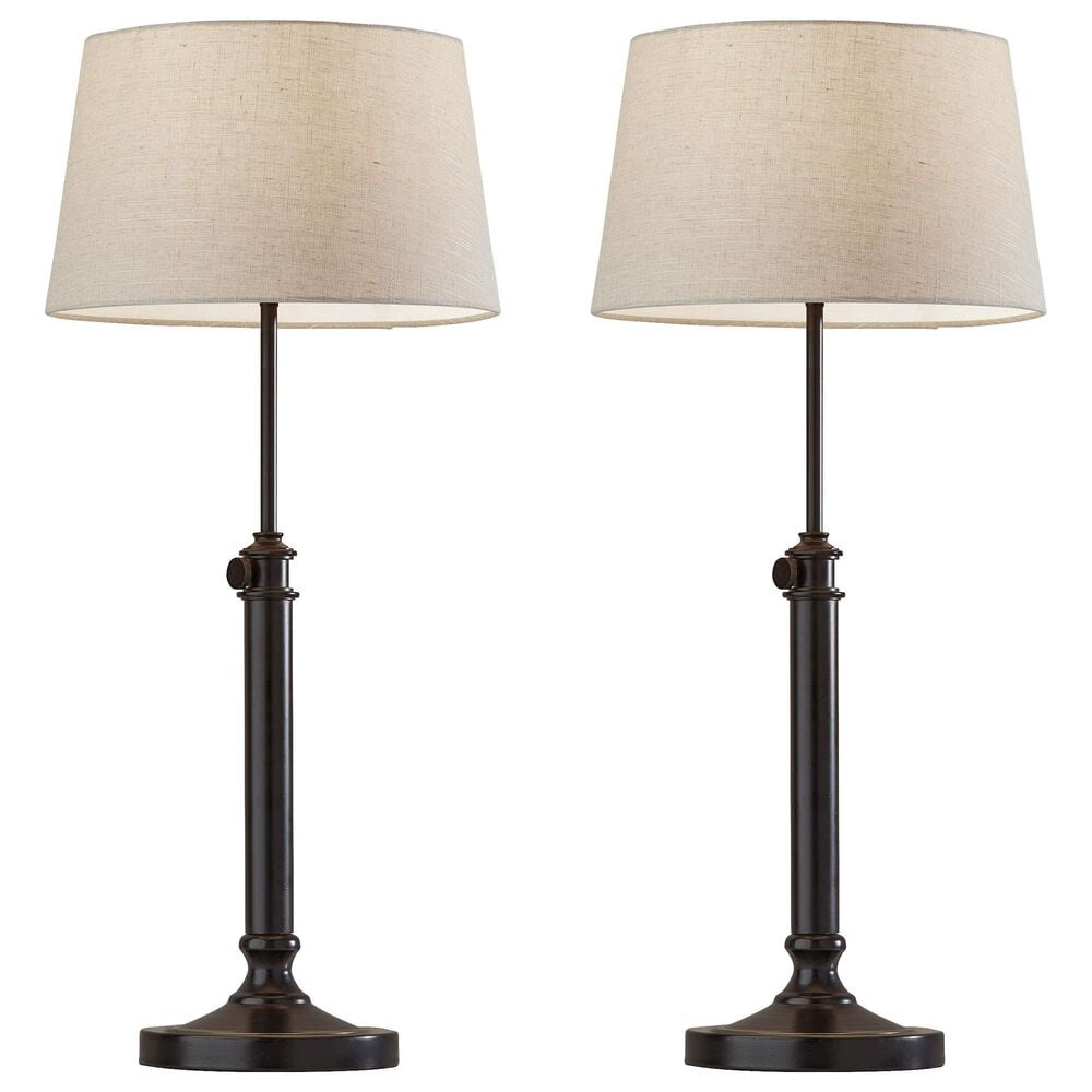 Adesso Mitchelle 2-Piece Table Lamp Set in Antique Black, , large
