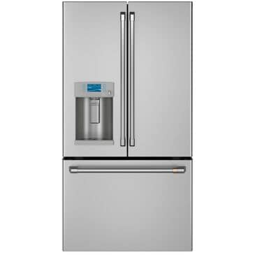 Cafe 22.2 Cu. Ft. Counter-Depth French Door Refrigerator with Hot Water Dispenser in Stainless Steel and Brushed Stainless Handles , , large