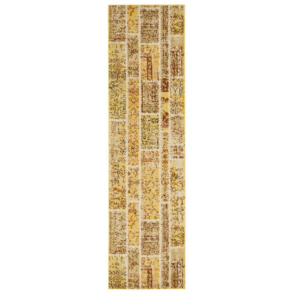 "Safavieh Monaco MNC216K-28 2'2"" x 8' Yellow/Multi Runner, , large"