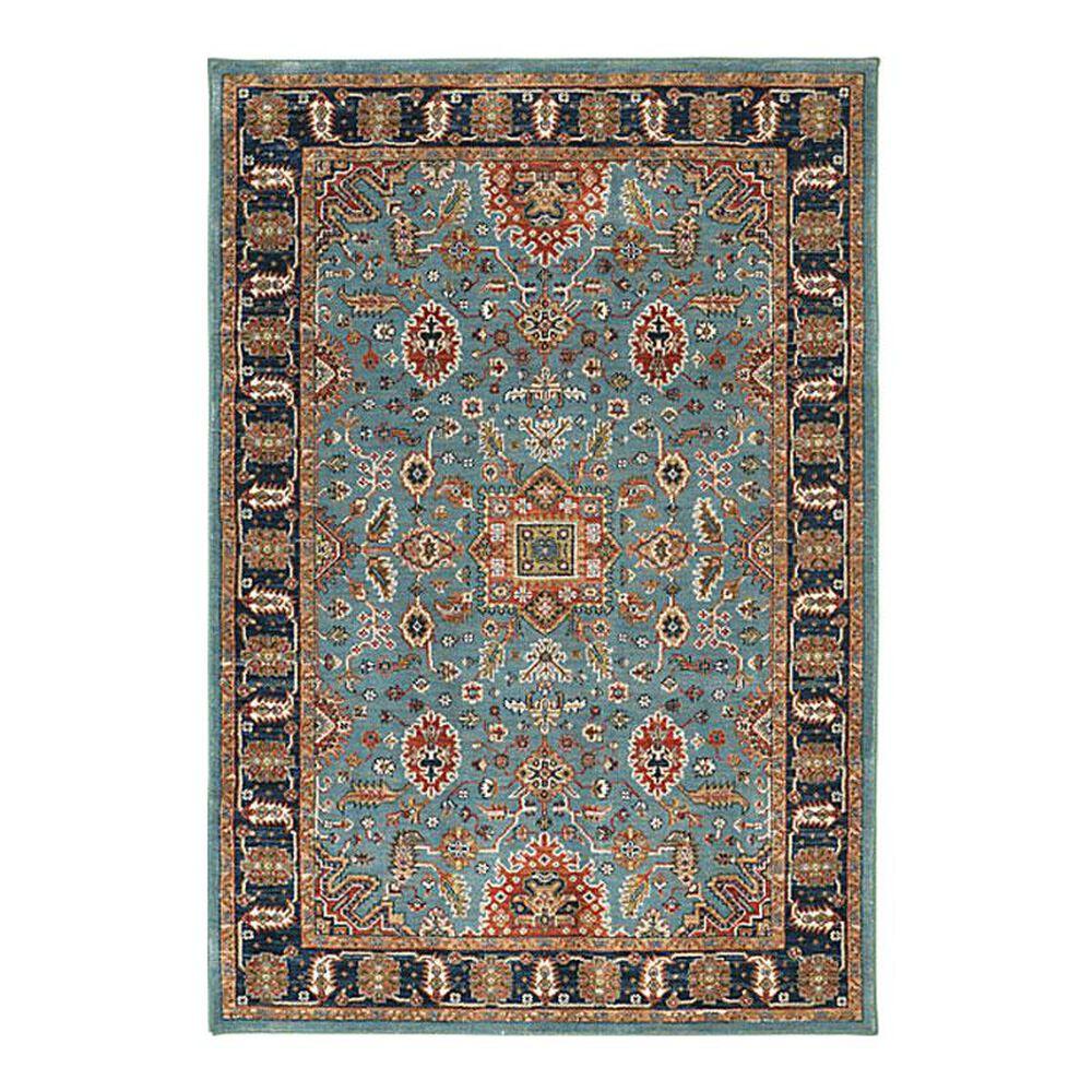 "Karastan Spice Market Deir 90665 5'3"" x 7'10"" Aqua Area Rug, , large"