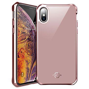 ITSkins Hybrid Glass Iridium Case For Apple Xs Max in Rose Pink, , large
