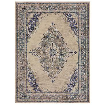 "Karastan Cosmopolitan Armitage 90961-50134 5'3"" x 7'10"" Indigo Area Rug, , large"