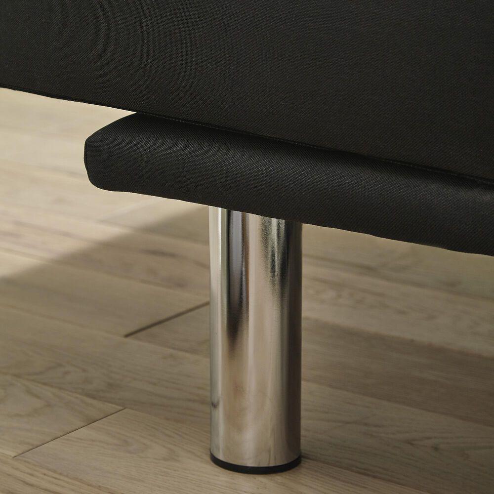 Signature Design by Ashley Santini Klik Klak Armless Sofa in Black, , large
