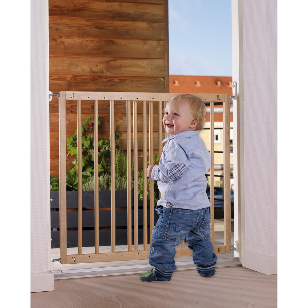 "LA Baby BabyDan 23.9"" - 40.1"" Extending Safety Gate in Natural, , large"