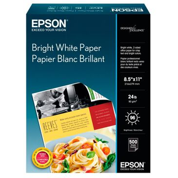 """Epson Bright White Paper (8.5x11""""  500 Sheets) , , large"""