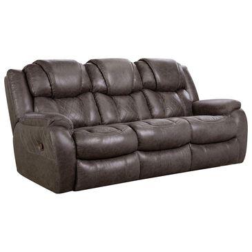 HomeStretch Daytona Double Reclining Manual Sofa in Steel, , large
