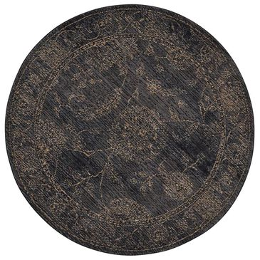 Nourison NR202 5' Round Charcoal Area Rug, , large