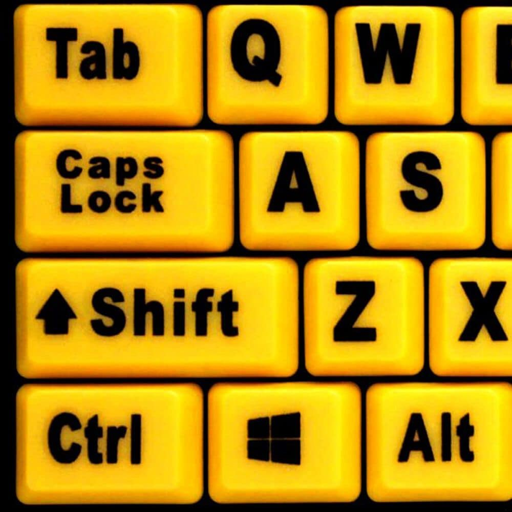 Adesso Luminous 4X Large Print Desktop Keyboard in Black and Yellow, , large