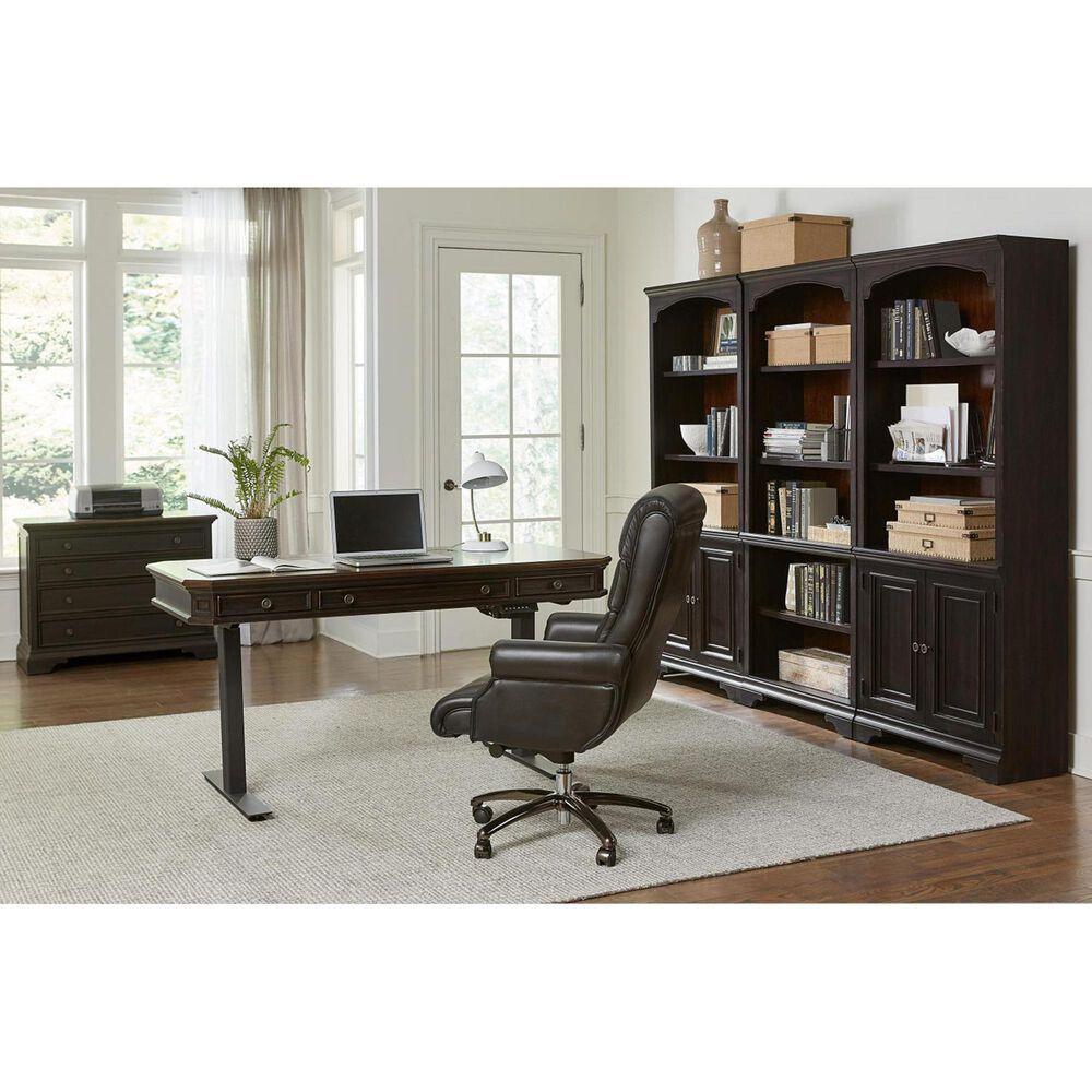 Riva Ridge Hampton Door Bookcase in Black Cherry- 1 Door Bookcase only, , large