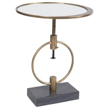 Vanguard Furniture Montgomery Martini Table in Brass and Black, , large