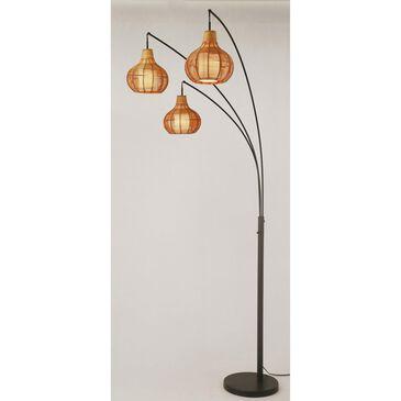 Lite Source Paige 3-Lite Arc Lamp in Black, , large