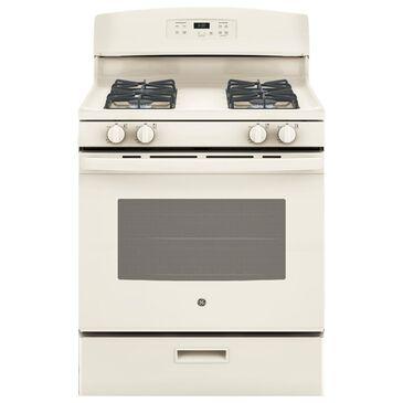 GE Appliances 4.8 Cu. Ft. Freestanding Gas Range in Bisque, , large