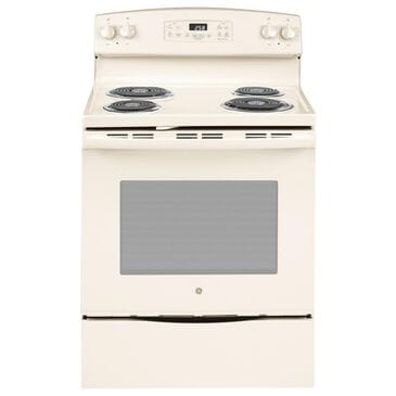 """GE Appliances 30"""" Free-Standing Self-Clean Electric Range in Bisque , , large"""