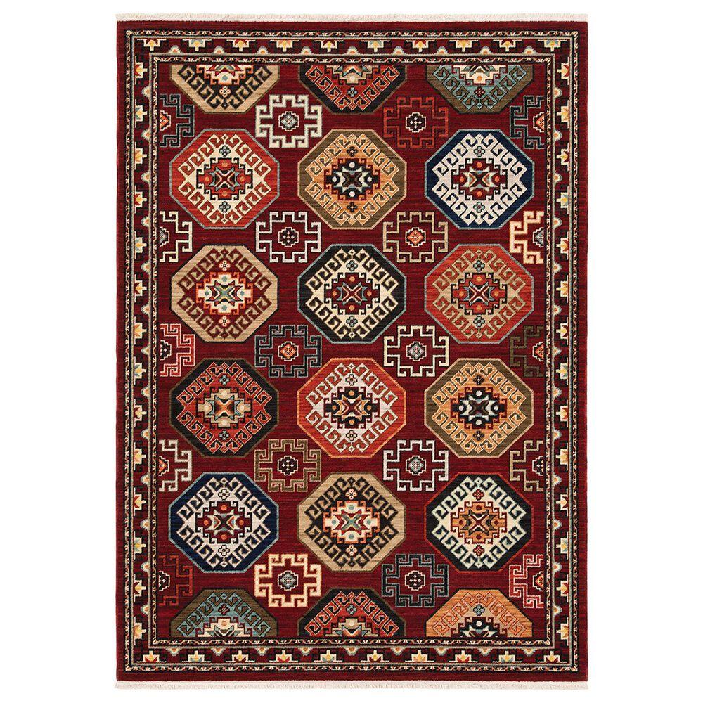 "Oriental Weavers Lilihan Geometric 091R6 7""10"" x 10""10"" Red Area Rug, , large"
