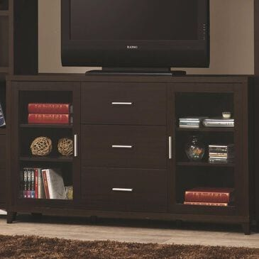 Pacific Landing TV Console in Cappuccino, , large