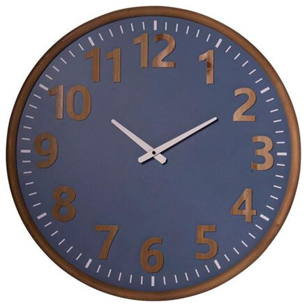VIP Home and Garden Wall Clock in Blue