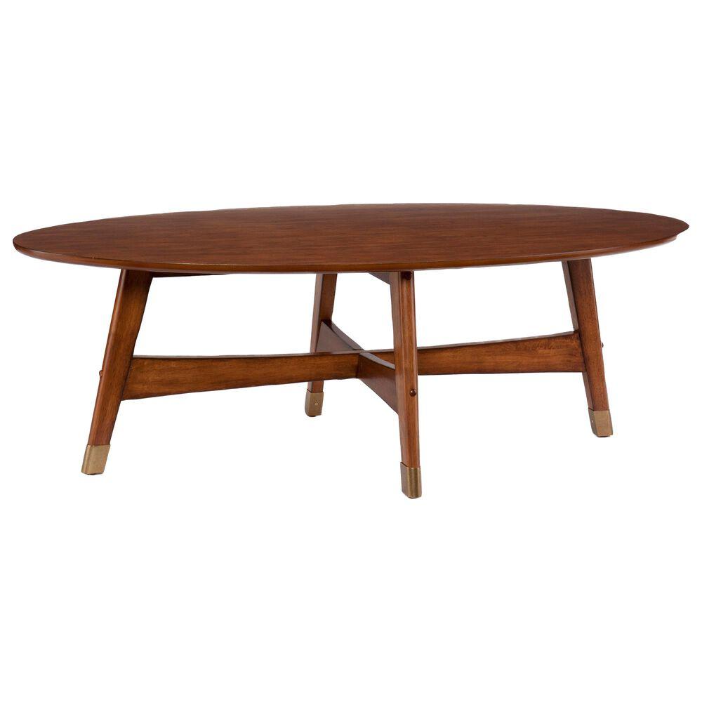 Southern Enterprises Rhoda Coffee Table in Dark Sienna, , large