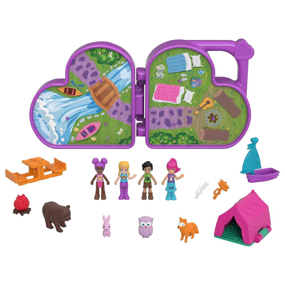Polly Pocket Polly and Friends Pack, Animal Campout Theme, , large