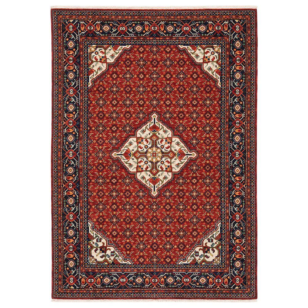 "Oriental Weavers Lilihan Medallion 001C6 9""10"" x 12""10"" Red Area Rug, , large"