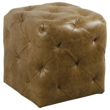 Kinfine Small Ottoman in Brown, , large