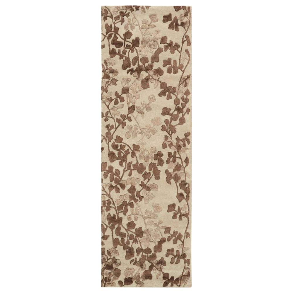 """Feizy Rugs Bella 2'6"""" x 8' Beige and Brown Runner, , large"""