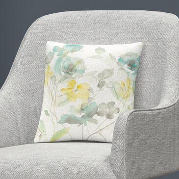 Timberlake Danhui Nai 'Aqua Roses Shadows' 16 x 16 Decorative Throw Pillow, , large