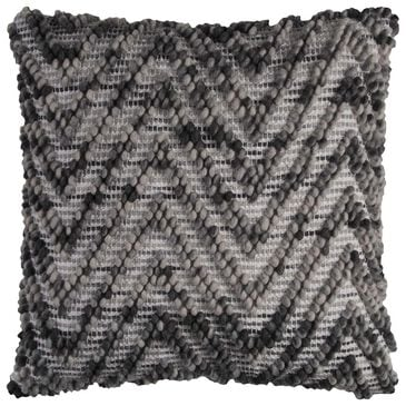 """Rizzy Home 20"""" x 20"""" Pillow Cover in Gray, Black and White, , large"""
