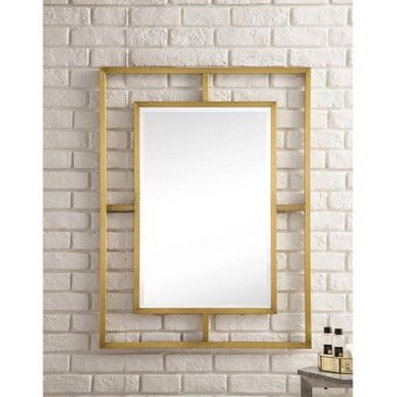 "James Martin Boston 30"" Rectangular Mirror in Radiant Gold, , large"