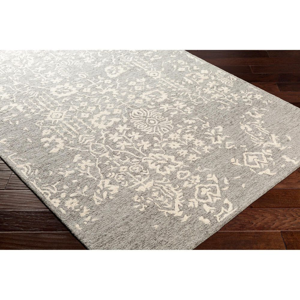 Surya Granada GND-2312 4' x 6' Medium Gray, Beige and Charcoal Area Rug, , large