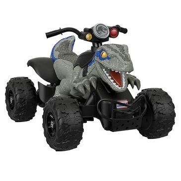 Fisher-Price Power Wheels Jurassic World Dino Racer ATV Ride-On, , large