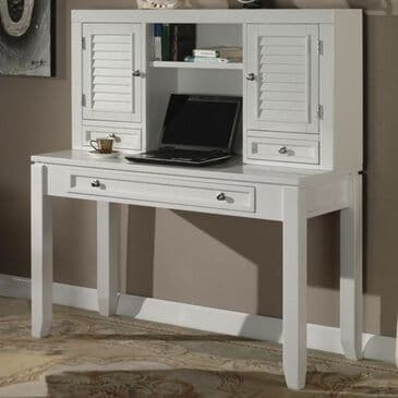 "Simeon Collection Boca 47"" Desk with Hutch in White, , large"