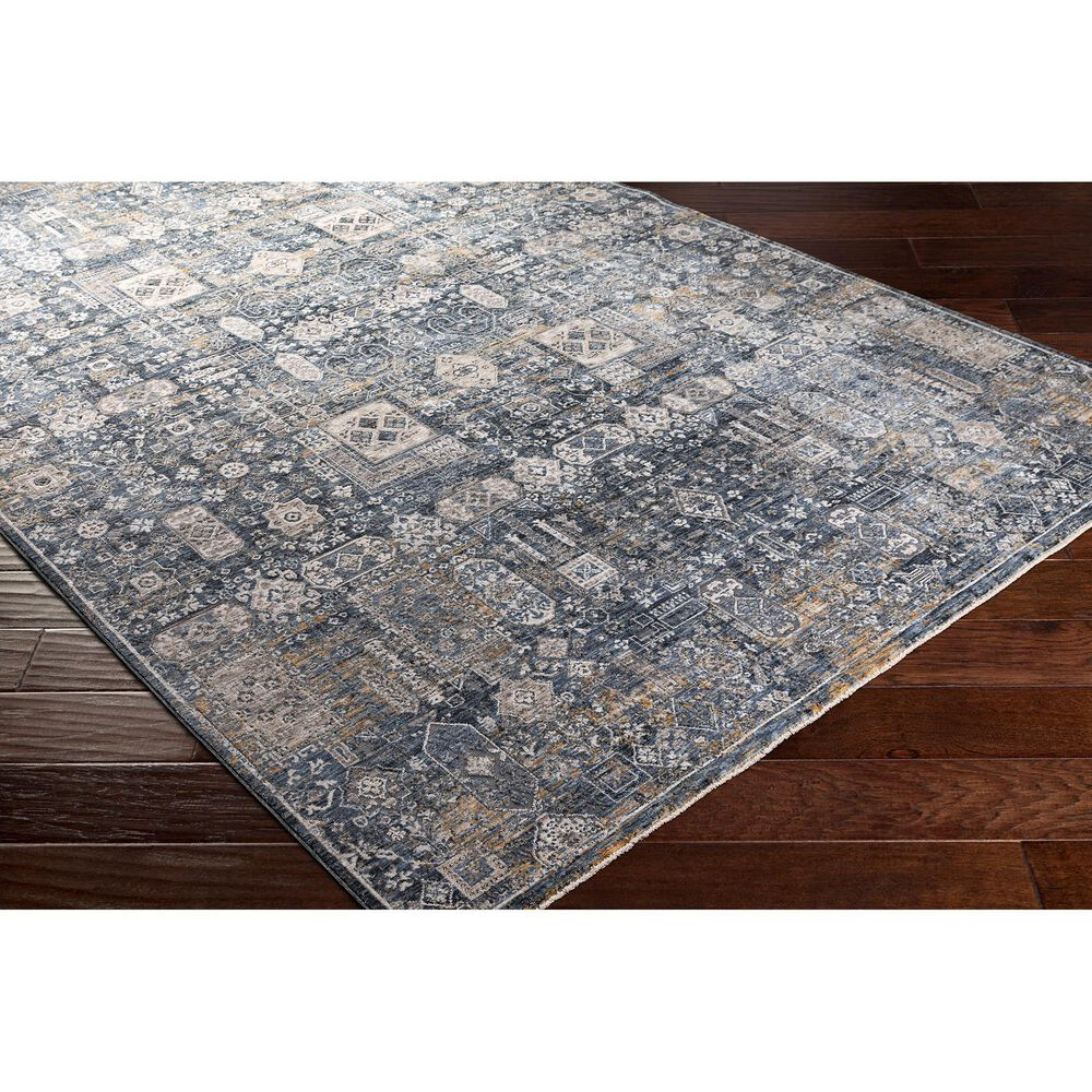 """Surya Carpet, Inc. Cardiff 7'10"""" x 10'3"""" Teal, Gray and Camel Area Rug, , large"""
