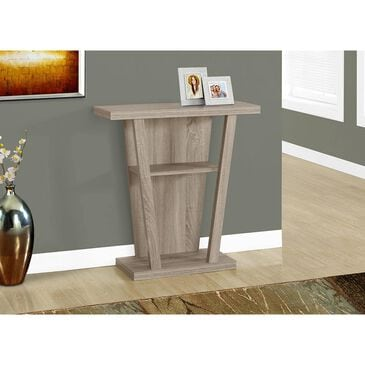 """Monarch Specialties 32"""" Hall Console Accent Table in Dark Taupe, , large"""